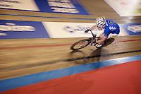 Jasper De Buyst (BEL/Topsport Vlaanderen-Baloise) in his fast lap<br /> <br /> Ghent 6 - day 1