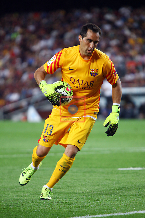 League BBVA 2015/2016. Game: 2.<br /> FC Barcelona vs Malaga CF: 1-0.<br /> Claudio Bravo.