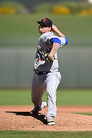 Scottsdale Scorpions pitcher Rob Whalen (38) during an Arizona Fall League game against the Surprise Saguaros on October 11, 2014 at Surprise Stadium in Surprise, Arizona.  Scottsdale defeated Surprise 7-6.  (Mike Janes/Four Seam Images)