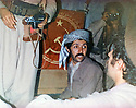Iraq 1982 .In Nawzang, Arsalan Baez in the office of Komala   .Irak 1982 .A Nawzang, au Komala, Arsalan Baez