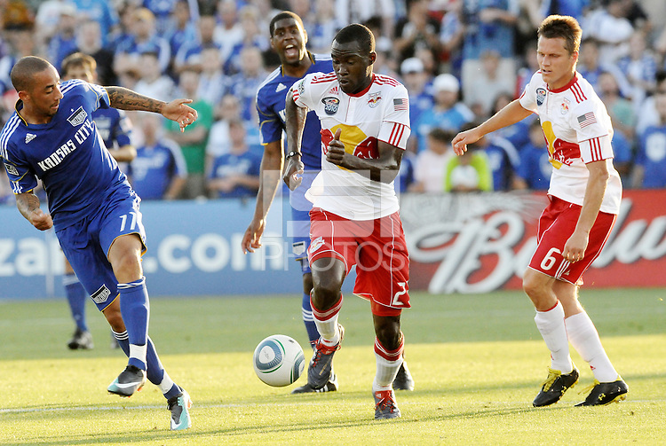 Tony Tchani...Kansas City were defeated 3-0 by New York Red Bulls at Community America Ballpark, Kansas City, Kansas.