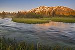 Mount Tallac at sunrise over Taylor Creek, near South Lake Tahoe, El Dorado County, California