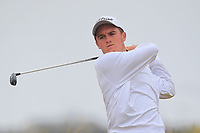 Dan Sheehan (Knowie) on the 1st tee during Round 1 - Matchplay of the North of Ireland Championship at Royal Portrush Golf Club, Portrush, Co. Antrim on Wednesday 11th July 2018.<br /> Picture:  Thos Caffrey / Golffile
