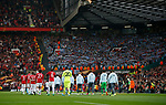 The teams enter the stadium during the Europa League Semi Final 2nd Leg match at Old Trafford Stadium, Manchester. Picture date: May 11th 2017. Pic credit should read: Simon Bellis/Sportimage