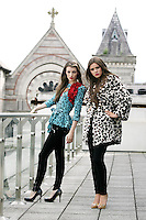 5/8/2010. BT2 AUTUMN WINTER COLLECTION. Model Jennifer Foley is pictured wearing Manoush TOP 310 EUROS and Model Naoise Tan wears Sonia by Sonia Rykiel Leopard fur coat and DR Denims 75 EUROS in Dublin at the preview of the BT2 Autumn winter collection. Picture James Horan/Collins