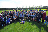 St Mary's players and supporters after winning the 2017 1st XV rugby Top Four girls' final between St Mary's College and Hamilton Girls' High School at Sport and Rugby Institute in Palmerston North, New Zealand on Sunday, 10 September 2017. Photo: Dave Lintott / lintottphoto.co.nz