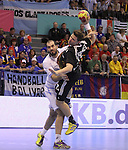 15.01.2013 Granollers, Spain. IHF men's world championship, prelimanary round. Picture show  Martin Strobel  in action during game between Germany v Argentina at Palau d'esports de Granollers