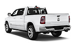 Car pictures of rear three quarter view of a 2019 Ram Ram 1500 Pickup Limited Crew Cab 4 Door Pick Up angular rear