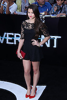 "WESTWOOD, LOS ANGELES, CA, USA - MARCH 18: Paris Berelc at the World Premiere Of Summit Entertainment's ""Divergent"" held at the Regency Bruin Theatre on March 18, 2014 in Westwood, Los Angeles, California, United States. (Photo by David Acosta/Celebrity Monitor)"
