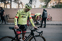 John Degenkolb (DEU/Trek-Segafredo) getting ready to roll out at Team Trek-Segafredo Mallorca training camp <br /> <br /> January 2018