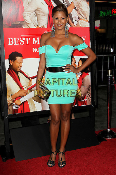 05 November 2013 - Hollywood, California - Claudia Jordan at &quot;The Best Man Holiday&quot; Los Angeles Premiere held at TCL Chinese Theatre on November 5th, 2013<br /> CAP/ADM/KB<br /> &copy;Kevan Brooks/AdMedia/Capital Pictures
