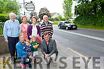 Residents from Ballydowney Killarney who are living in fear with the speed of the traffic outside their  houses front Ciara Birdthistle and her children Sienna and Joshua, Cllr John Sheahan. Back row: Maurice Breen, Margaret Breen Brid Long Paudie O'Donoghue