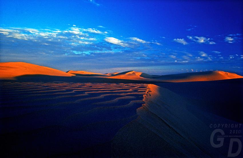 Last light on the Sand dunes in the Simpson Desert, Northern Territory, Australia
