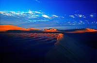Last light on the Sand dunes in the Simpson Desert, Northern Territory, Australia