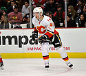 ALEC TANGUAY,  of the Calgary Flames in action  during the Flames  game against the Chicago Blackhawks at the United Center in Chicago, IL.  The Chicago Blackhawks beat the Calgary Flames 4-2 in Chicago, Illinois on December 5, 2011....