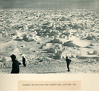 BNPS.co.uk (01202 558833)<br /> Pic: Bonhams/BNPS<br /> <br /> Looking south across the frozen sea from Endurance.<br /> <br /> Photographic record of one of the worlds most epic tales of endurance...<br /> <br /> Remarkable photos documenting Sir Ernest Shackleton's ill-fated attempt to cross Antarctica over 100 years ago have emerged for sale for £40,000.<br /> <br /> The 1914-17 expedition is remembered for one of the greatest feats of human bravery and endurance after the party became stranded for 18 months in freezing conditions. <br /> <br /> The expedition's official photographer, Frank Hurley, captured their ordeal on camera and made presentation albums when he eventually returned to Britain.<br /> <br /> One album was given to King George V. Seven are believed to survive today, including the one for sale that has been owned by a private collector for over 40 years.