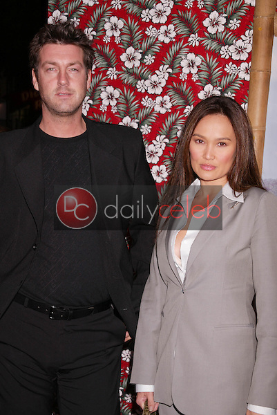 Tia Carrere and Simon Wakelin
