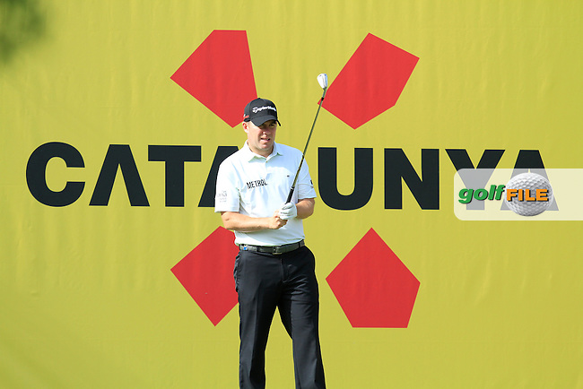 Richie Ramsey (ENG) on the 8th tee during the Pro-Am of the Open de Espana  in Club de Golf el Prat, Barcelona on Wednesday 13th May 2015.<br /> Picture:  Thos Caffrey / www.golffile.ie