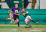 19 October 2013: University of Vermont Catamount Midfielder Charlie DeFeo, a Sophomore from Newfields, NH, in action against the University at Albany Great Danes at Virtue Field in Burlington, Vermont. The Catamounts defeated the visiting Danes 2-1. Mandatory Credit: Ed Wolfstein Photo *** RAW (NEF) Image File Available ***