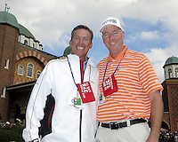 26 SEP 12  PGA Teacher of the Year Michael Breed with World renowned Radio Host Brian Katrek at The 39th Ryder Cup at The Medinah Country Club in Medinah, Illinois.