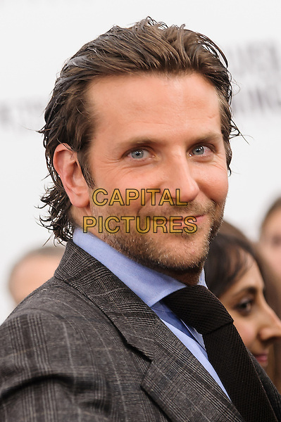 Bradley Cooper.'Silver Linings Playbook' NYC Premiere, New York, New York, USA..November 12th, 2012.headshot portrait stubble facial hair grey gray suit jacket blue shirt black tie check.CAP/ADM/MSA.©Mario Santoro /AdMedia/Capital Pictures.