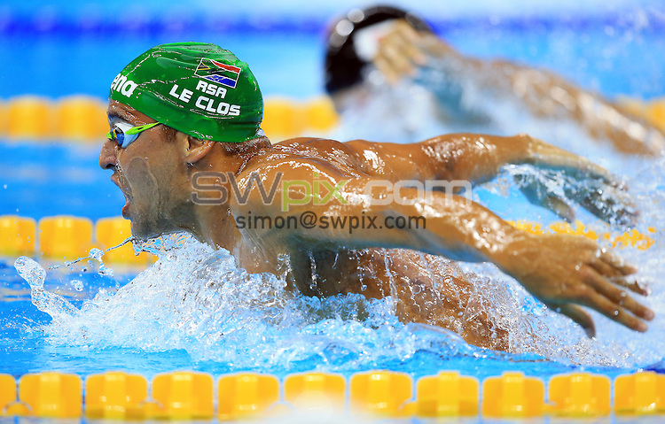 RIO DE JANEIRO, BRAZIL - AUGUST 08:  Chad le Clos of South Africa competes in the Men's 200m Butterfly Heats on Day 3 of the Rio 2016 Olympic Games at the Olympic Aquatics Stadium on August 8, 2016 in Rio de Janerio, Brazil.  (Photo by Vaughn Ridley/SWpix.com)