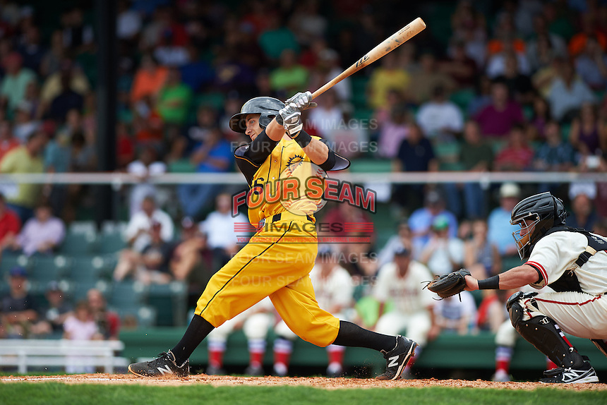 Jacksonville Suns shortstop Austin Nola (36) at bat during the 20th Annual Rickwood Classic Game against the Birmingham Barons on May 27, 2015 at Rickwood Field in Birmingham, Alabama.  Jacksonville defeated Birmingham by the score of 8-2 at the countries oldest ballpark, Rickwood opened in 1910 and has been most notably the home of the Birmingham Barons of the Southern League and Birmingham Black Barons of the Negro League.  (Mike Janes/Four Seam Images)