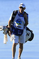 Shane Lowry (IRL) caddy Dermot Byrne on the 5th green at Pebble Beach course during Friday's Round 2 of the 2018 AT&amp;T Pebble Beach Pro-Am, held over 3 courses Pebble Beach, Spyglass Hill and Monterey, California, USA. 9th February 2018.<br /> Picture: Eoin Clarke | Golffile<br /> <br /> <br /> All photos usage must carry mandatory copyright credit (&copy; Golffile | Eoin Clarke)