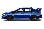 Car driver side profile view of a 2018 Subaru WRX STI Sport Premium 4 Door Sedan