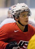 Philip McRae (USA - 9) - Team USA practiced at the Agriplace rink on Monday, December 28, 2009, in Saskatoon, Saskatchewan, during the 2010 World Juniors tournament.