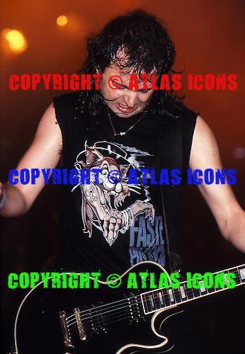 "MOTORHEAD: Ian ""Lemmy"" Kilmister:  New York City: 1988:.Photo Credit: Eddie Malluk/Atlas Icons.com"