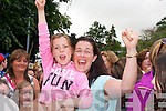 Susan and Emma Farrelly from Fenit enjoying the warm up acts before Jedward on Friday.