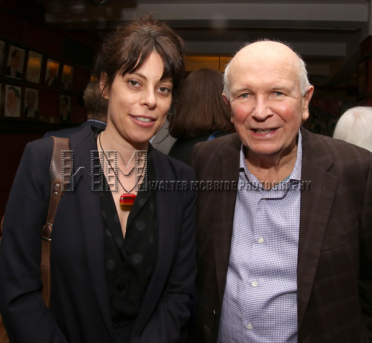 Arin Arbus and Terrence McNally during the Robert Whitehead Award Ceremony honoring Tom Kirdahy at Sardi's on 5/22/2019 in New York City.