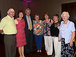 John and Ann Keenan, BrendanMarkey, Mary McMahon Fogarty, Geraldine Kirk, Angela Cassidy and Masie McMahon pictured at the O'Brien family gathering in City North hotel. Photo:Colin Bell/pressphotos.ie