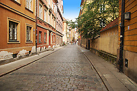 Warsaw old brick street pavement