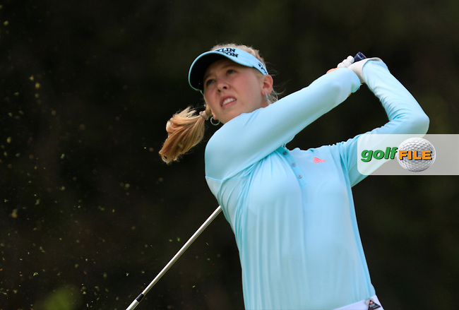 Jessica Korda (USA) on the 2nd tee during Round 3 of the HSBC Women's Champions at the Sentosa Golf Club, The Serapong Course in Singapore on Saturday 7th March 2015.<br /> Picture:  Thos Caffrey / www.golffile.ie
