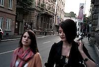 ROMANIA / Bucharest /17. 09.2009 / Teenagers on their way to, the best high school in Bucharest. © Davin Ellicson / Anzenberger