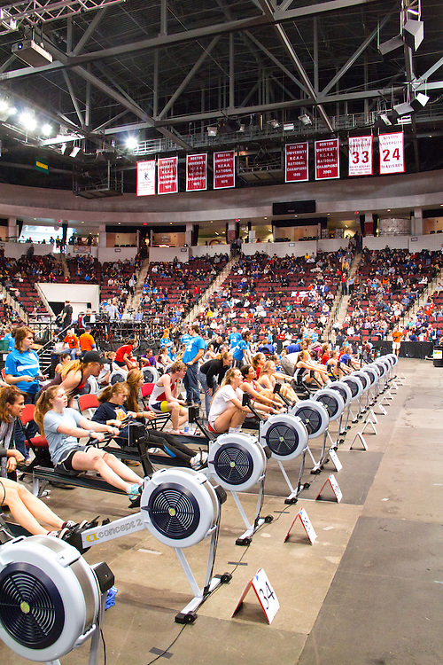 Concept2 Crash-B World Indoor Rowing Championships, 2012, Lightweight Junior Women, athletes compete annually on a Concept2 Indoor Rower for time over 2000 meters, Agganis Arena, Boston University, Boston, Massachusetts,
