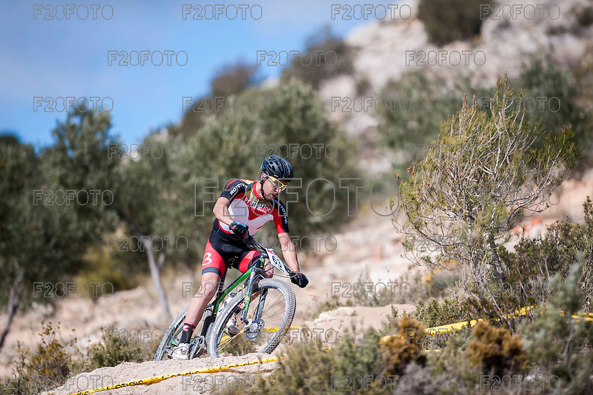 Chelva, SPAIN - MARCH 6: Alvaro Sanchez  during Spanish Open BTT XCO on March 6, 2016 in Chelva, Spain