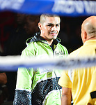 MIAMI, FL - JULY 10: Noe Bolanos (green short) in the ring fighting at the Iron Mike Judgement Day boxing match at AmericanAirlines Arena on July 10, 2014 in Miami, Florida. Lubin defeated Bolanos by unanimous decision in eight rounds. (Photo by Johnny Louis/jlnphotography.com)