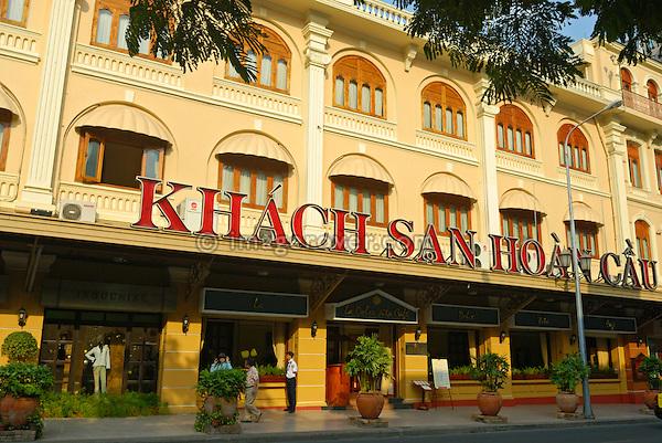 Asia, Vietnam, Ho Chi Minh City (Saigon). Famous Hotel Continental on Dong Khoi St. (District 1).