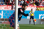 Deportivo de la Coruña´s goalkeeper Fabricio during 2014-15 La Liga match between Atletico de Madrid and Deportivo de la Coruña at Vicente Calderon stadium in Madrid, Spain. November 30, 2014. (ALTERPHOTOS/Victor Blanco)
