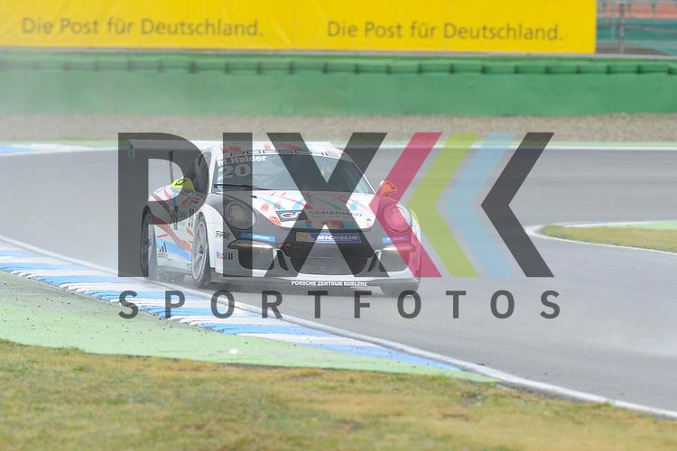 # 20 Mike Halder (DEU) vom Aust Motorsport  beim Porsche Carerra Cup Deutschland auf dem Hockenheimring.<br /> <br /> Foto &copy; P-I-X.org *** Foto ist honorarpflichtig! *** Auf Anfrage in hoeherer Qualitaet/Aufloesung. Belegexemplar erbeten. Veroeffentlichung ausschliesslich fuer journalistisch-publizistische Zwecke. For editorial use only.