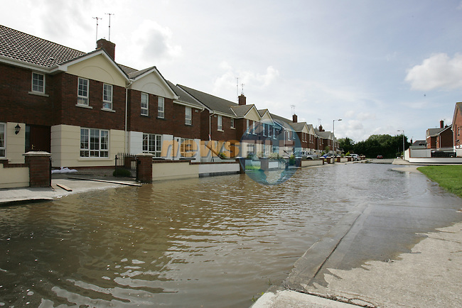 Families spent another night in Northlands estate in Bettystown trying to keep the water from there Homes pictures show the waters had subsided about two feet when we managed to get into the estate in bettystown Co Meath...Photo: Fran Caffrey/ Newsfile.