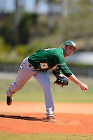 Wayne State Warriors pitcher Ethan Vasilauskas #13 during a game against Slippery Rock at Chain of Lakes Complex on March 15, 2013 in Winter Haven, Florida.  (Mike Janes/Four Seam Images)