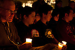 Bill McKibben at the Vigil for Survival. A coaltion of civil society and NGO's holds a vigil for Survival in downtown Copenhagen. After being locked out of the Bella center and shut out of the process, civil society used the moment to reaffirm their dedication to solving the climate crisis.  (Images free for Editorial Web usage for Fresh Air Participants during COP 15. Credit: Robert vanWaarden)