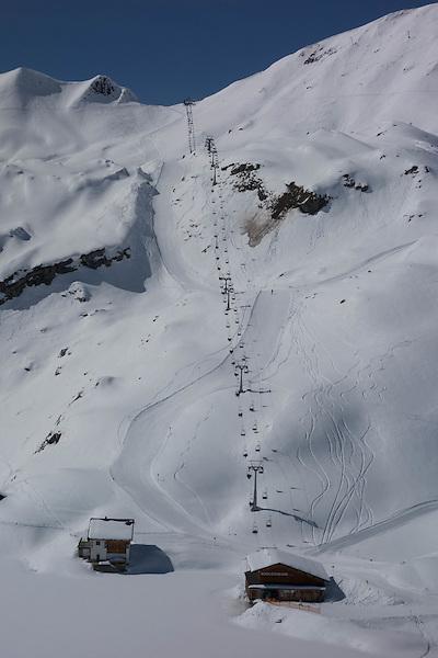 Madloch Chairlift at Zurs Ski Areas, St Anton, Austria