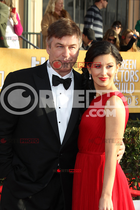 LOS ANGELES, CA - JANUARY 27: Alec Baldwin and Hilaria Thomas at The 19th Annual Screen Actors Guild Awards at the Los Angeles Shrine Exposition Center in Los Angeles, California. January 27, 2013. Credit: mpi27/MediaPunch Inc. /NortePhoto /NortePhoto