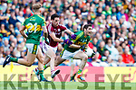 Killian Young Kerry in action against Michael Farragher Galway in the All Ireland Senior Football Quarter Final at Croke Park on Sunday.