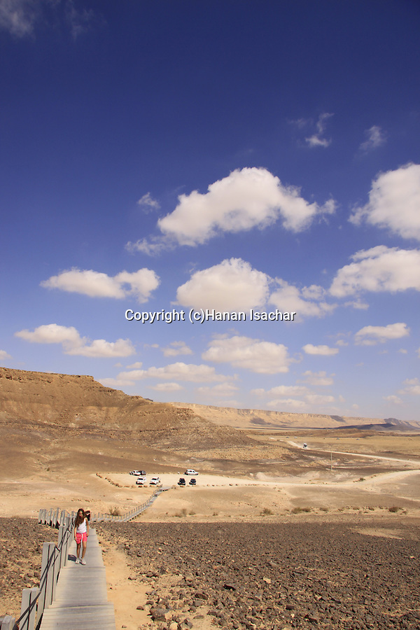 Israel, Negev, view from Haminsara (the Carpentry) Hill in Ramon Crater